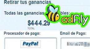 ¿Como cobrar dinero de Adfly - Aquí mi primer cobro